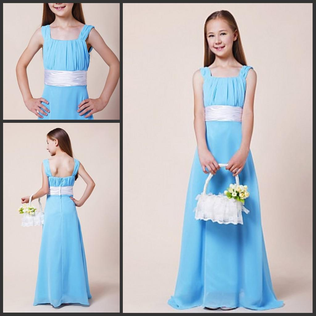 Light blue square junior bridesmaid dresses young girls party light blue square junior bridesmaid dresses young girls party gowns inexpensive bridesmaids dresses jr bridesmaids dresses from weddingfactory ombrellifo Image collections
