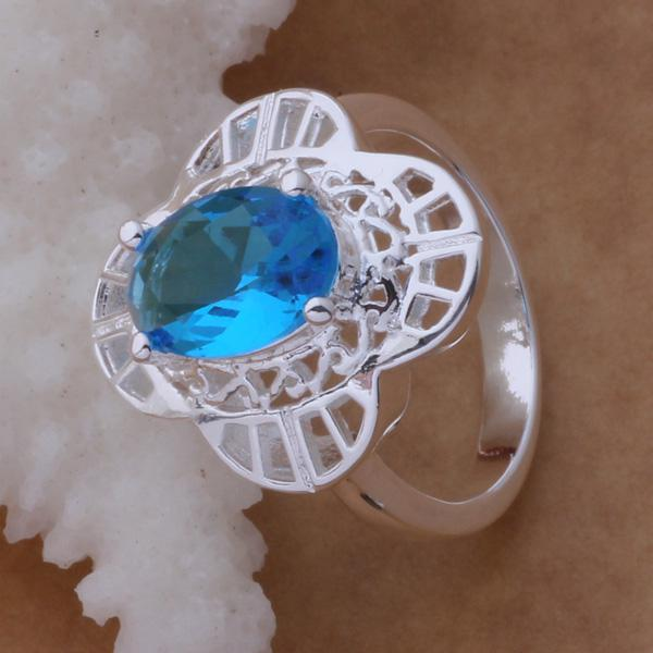 High quality 925 silver plated Austrian Crystal Ring Fashion Party Jewelry for women