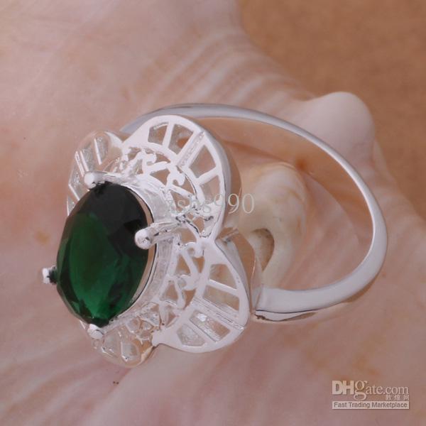 Högkvalitativ 925 Silverpläterad Österrikisk Crystal Ring Fashion Party Smycken För Kvinnor Gratis Frakt Blandning Order /