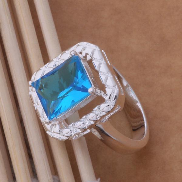 Anneaux de mariage en cristal autrichien en argent 925, bijoux de mode pour femmes, livraison gratuite / commandes de couleurs mélangées