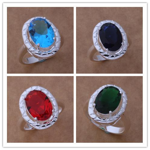 Mixed Order 925 Silver Swarovski Elements Crystal Fashion Bridal Jewelry  Wedding Rings Free shipping 12pcs  ccdb0c7c9160