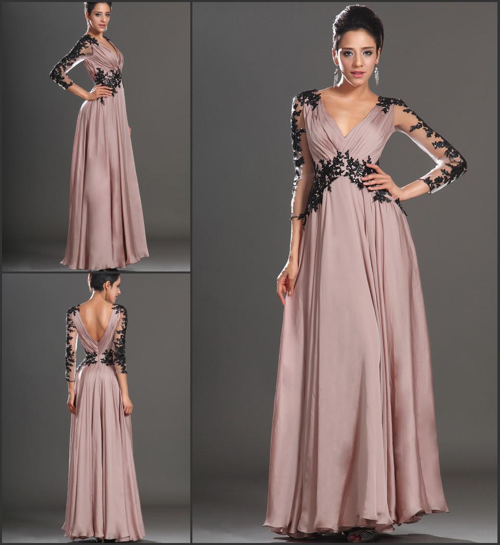 Großhandel Elegante Schöne A Linie Formale Abend Kleid Mit V ...