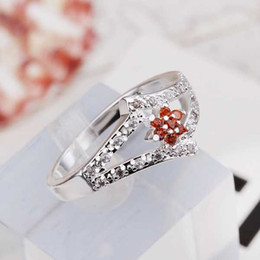 Wholesale Exquisite Stone - Hot Sell!Wholesale Sterling 925 silver ring,925 silver fashion ring,Fashion Exquisite Crystal Stone Finger Rings SMTR286