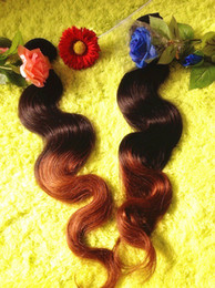 Wholesale Hair Color Pack - Two Color Body Wave Hair 3 Packs Lot 16''-24''100% Remy Brazilian Human Hair