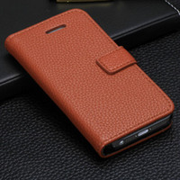 Wholesale Buy Purse For Card - For Apple iPhone 5 5S 5C 4 4S Litchi Skin Wallet Purse Flip Leather Case Cover Pouch Holster with Credit Card Slot Money Pocket Book Style