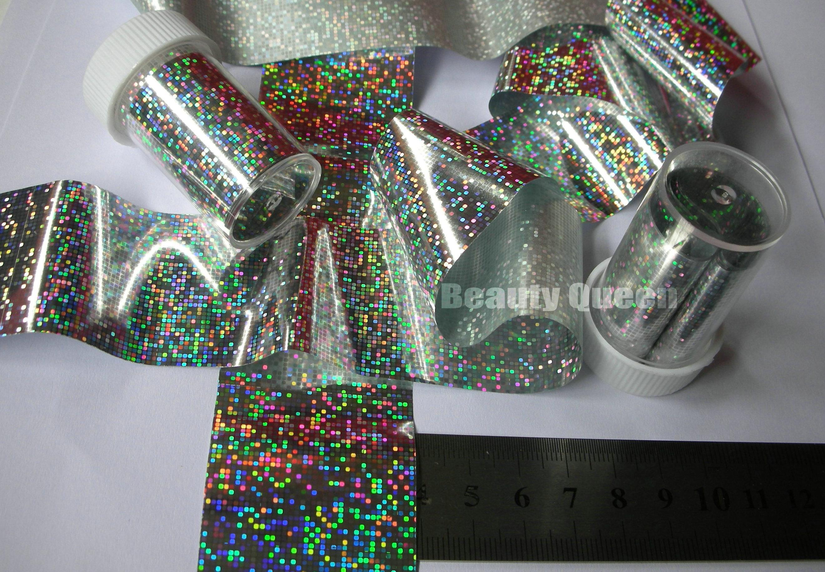 100 couleurs mélangées Glitzy feuille de transfert Nail Art Nail Sticker feuille Wrap Nail Tip Décoration facile Craft Adhesive Gel service Acrlic Nouveau 2013
