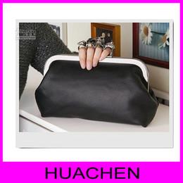 Wholesale Skeleton Skull Finger Clutch - #8020 New Women Ring Bag Skeleton Skull Finger Clutch Purse Evening Handbags