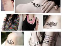 Wholesale Tatoo Models - Fashion body Tattoo Sticker Hot Lip Sticker Party Queen Lip Stick lip tatoo 70styles mix models 100pcs lot free shipping