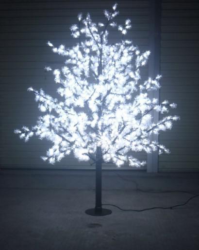 Acheter 1 8m Pur Led Blanc Lighted Arbres Artificiels Pine