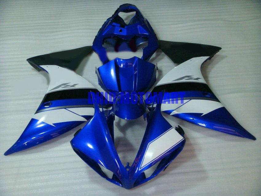 Injection mold Fairing kit for YAMAHA YZFR1 09 10 11 12 YZF R1 2009 2012 YZF1000 White blue Fairings set+gifts YF12