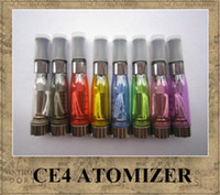Wholesale Ego Ce4 Clearomizer Cartomizer - ego ce4 Atomizer Clearomizer Cartomizer for eGo-T, eGo-C, eGo-W and 510 thread eGo-CE4 8 colors long wick