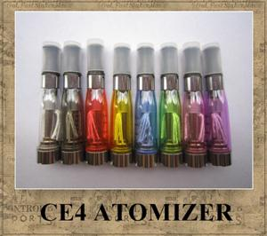 ego ce4 Atomizer Clearomizer Cartomizer for eGo-T, eGo-C, eGo-W and 510 thread eGo-CE4 8 colors long wick