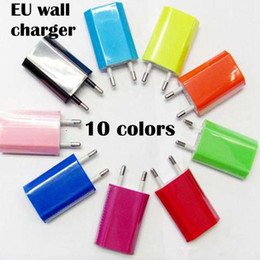 Wholesale Iphone Genuine Adapter - Ipone5 5s 5c EU Plug Genuine 5V 1A USB Power Travel Adapter AC Wall Charger for iPhone Samsung HTC 50pcs MOQ DHL free shipping;