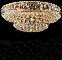 K9 crystal ceiling light modern luxury cognac color crystal ...