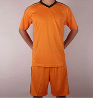 Wholesale Soccer Pants Wholesale - Customized 13-14 Season 3rd Away Orange Champions League Soccer Jerseys And Pants Football Jersey With Shorts