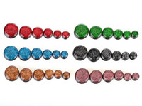 Wholesale Screw Tunnels - 72PCS Mixed Acrylic Screw Ear Gauges Flesh Ear Tunnels Plugs Stretchers Expander Unisex 6 Colors Hot Sale [BC105*6]
