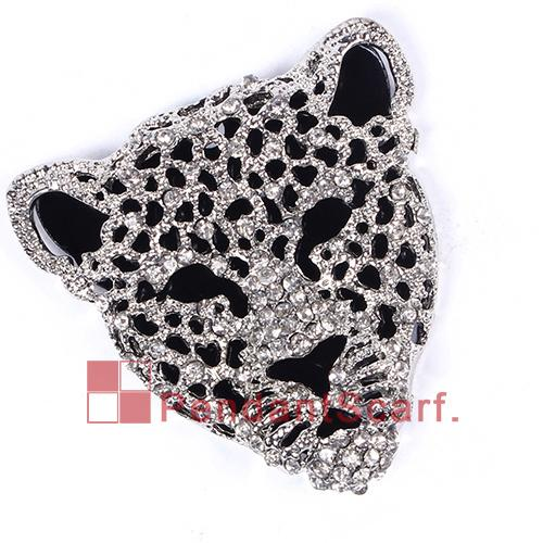 / heiße Art und Weise neue Entwurfs-DIY Halsketten-Juwel-Schal-Entdeckungen Geistesaluminiumrhinestone Leopard-Tiger-Kopf-Anhänger, freies Verschiffen, AC0238
