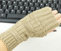 Wholesale Korea Gloves Style - Korea style Fingerless Gloves Arm warmers ARM CORVER mitten 20 pairs lot #3249