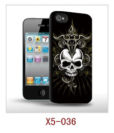 Wholesale Cheap Clear Cell Phone Cases - Cheap High clear 3D Skull Hard Back case Cover for Apple iPhone 5 5G Cell phone Case 300 Models + Retail box