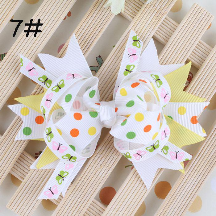 Baby Barrettes Hairpin Girl Bowknot Flower Hair Clips Hair Accessories DIY Photography props Hair Clip Lovely Multicolor Barrette wholesale