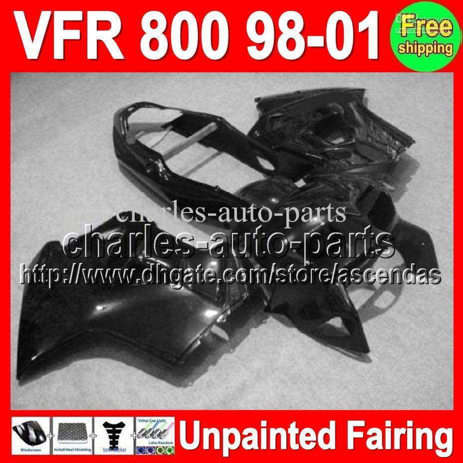 7GIFTS UNPAINTED Full Fairing Kit för Honda VFR800 Interceptor 98-01 VFR 800 VFR-800 98 99 00 01 1998 1999 2000 2001 Fairings Bodywork Body