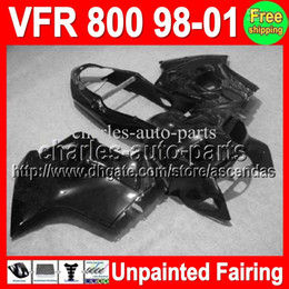 honda vfr interceptor fairings UK - 7gifts Unpainted Full Fairing Kit For HONDA VFR800 interceptor 98-01 VFR 800 VFR-800 98 99 00 01 1998 1999 2000 2001 Fairings Bodywork Body