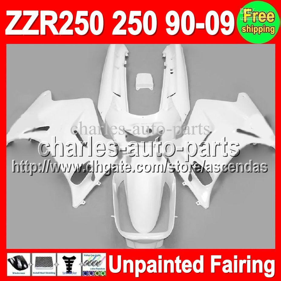 7gifts Unpainted Full Fairing Kit For KAWASAKI NINJA ZZR250 90-09 ZZR 250 90 91 92 93 94 95 96 97 00 05 06 07 08 09 Fairings Bodywork Body