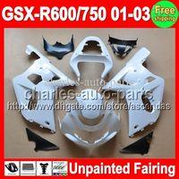 gsxr k1 verkleidungssatz großhandel-7gifts Unpainted Full Verkleidung Kit für SUZUKI GSX-R600 / 750 GSXR600 GSXR750 GSXR 600 750 K1 01 02 03 2001 2002 2003 Verkleidungen Body Karosserie