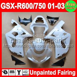 gsx r Sconti 7gifts Kit carenatura completa non verniciata per SUZUKI GSX-R600 / 750 GSXR600 GSXR750 GSXR 600 750 K1 01 02 03 2001 2002 2003 Carenature Carrozzeria Corpo
