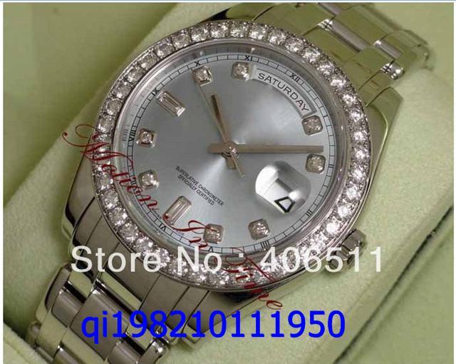 Luxus Herren Meisterwerk Platin 39mm Sonderedition Diamanten Eisblau 18946 Saphirglas Limited
