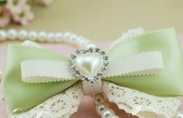 Wholesale Ivory Napkin Rings - Free Shipping!100pcs IVORY HEART Rhinestone Button Diamante Pearl for Hair Flower Wedding Invitation Scrapbooking Napkin Ring