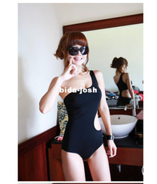 Wholesale One Shoulder Bikini Swimwear - Free shipping fashion One-Shoulder Cut Out Padded Swimsuit Swimwear sexy Bathing suit swimming wear One Pieces Monokini bikini
