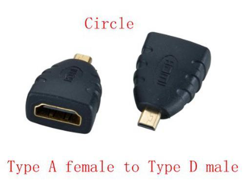 Siyah ve Kırmızı HDMI Kadın Mikro HDMI Erkek Adaptörü Dönüştürücü DHL Ücretsiz kargo, 200 adet / grup