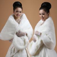 schwarze pelz-wolle großhandel-Plus Größe 150x50cm Breite weiche weiße / schwarze Kunstfell Shrug Cape Stola Winter Wrap Hochzeit Braut besonderen Anlass Schal