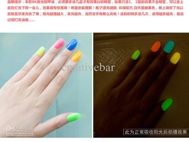 Wholesale lastest Fantasy cool Luminous Nail Art Polish Glow Glitter in the dark Paint Lacquer