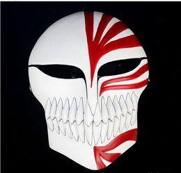 Wholesale Bleach Resin - High Quanlity Resin Death Ichigo Kurosaki Bleach Full Face Mask Collectors Birthday Cosplay Halloween Gift wholesale