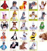 süs ördek toptan satış-Bebek çocuk karikatür hayvan Cadılar Bayramı Kostüm Cosplay Fantezi Parti Tam Set giyim tulum panda ördek domuz kurt 19 türler hayvanlar hediyeler