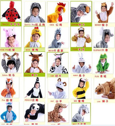 Discount cartoon pig party - Baby Children's cartoon animal Halloween Costume Cosplay Fancy Party Full Set clothing coverall panda duck pig wolf