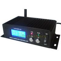 Wholesale Transmitter Receiver Ship - LCD wireless Receiver & Transmitter 2.4G DMX512 free shipping