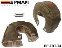 Wholesale Performance Turbos - EPMAN High Quality RACING - Universal Titanium T4 Turbo Heat Shield Blanket Performance Race Drag Rally Cars EP-TBT-T4