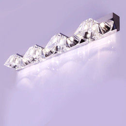 Wholesale Morden Living - Morden trapezoid hollow crystal bedroom wall light mirror wall light living room wall light washroom Bathroom wall sconces lamp