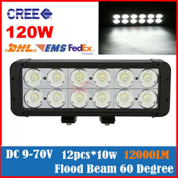 "Wholesale Cree Led Light Bar Combo - 2013 NEW 11"" 120W CREE 12-LED*10W Work Light Bar Off-Road SUV ATV 4WD 4x4 Spot Flood Combo Beam 12000lm IP67 Driving Truck 9-70V Dual Beam"