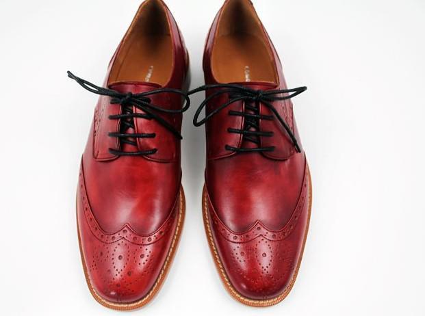 Men Dress Shoes Oxfords Shoes Custom Handmade Shoes Genuine Calf