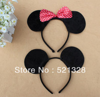 Wholesale Cosplay Bow - Wholesale - COSPLAY item,Minnie mouse ear, ear headband with bow  animal ear headand Free shipping 20pcs lot cfx