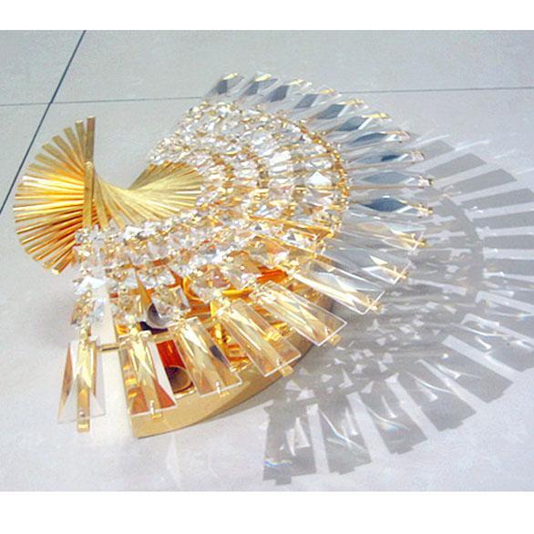 Aplique de abanico de cristal moderno Corredor Aplique de lujo Dormitorio de cristal europeo de lujo Apliques de pared Porche espejo Frente a pared de pasillo