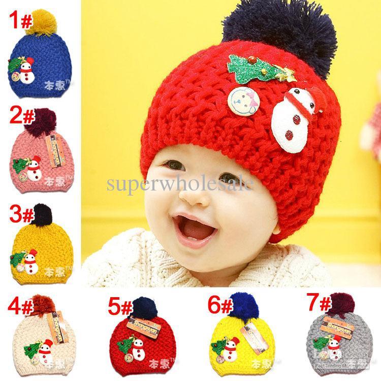... czech baby christmas pattern hat infant wool capstoddler knitted  capchildren hatscrochet caps 8713d dbd56 f98dc671e1cc
