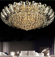 K9 crystal ceiling light modern fashion stainless steel pend...