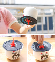 Wholesale Silicone Airtight Cup Coffee - Lovely Eiffel Tower Silicone Mug Lid Airtight Coffee Cup Cover TeaCup Cap Household Decoration Gifts