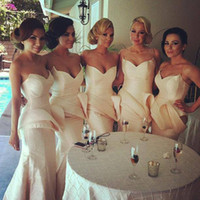 Wholesale mermaid wedding dress taffeta for sale - New Big Discount Perfect Sweetheart Strapless Convertible Bridesmaid Dresses for wedding party Cheap Dress