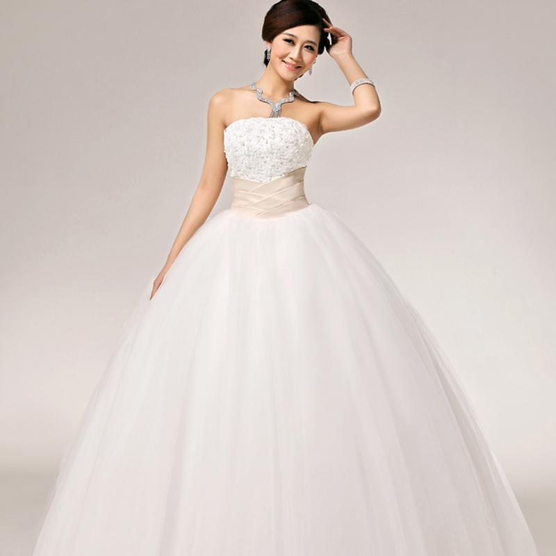 2016 New Stock Plus Size Women Bridal Gown Wedding Dress: New Arrival White Vintage Lace Pearl Floor Length Lace Up